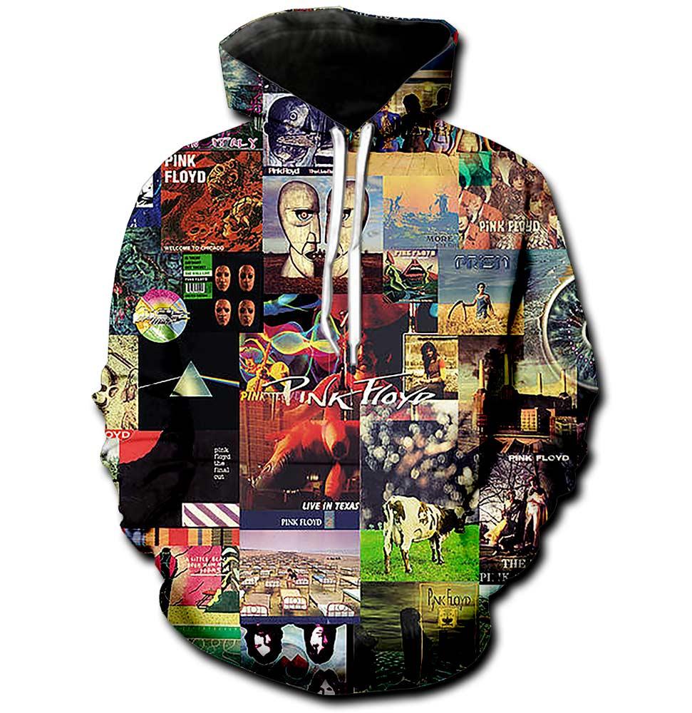 Pink Floyd Album Collage Tshirt Hoodie Sweatshirt PF TN132